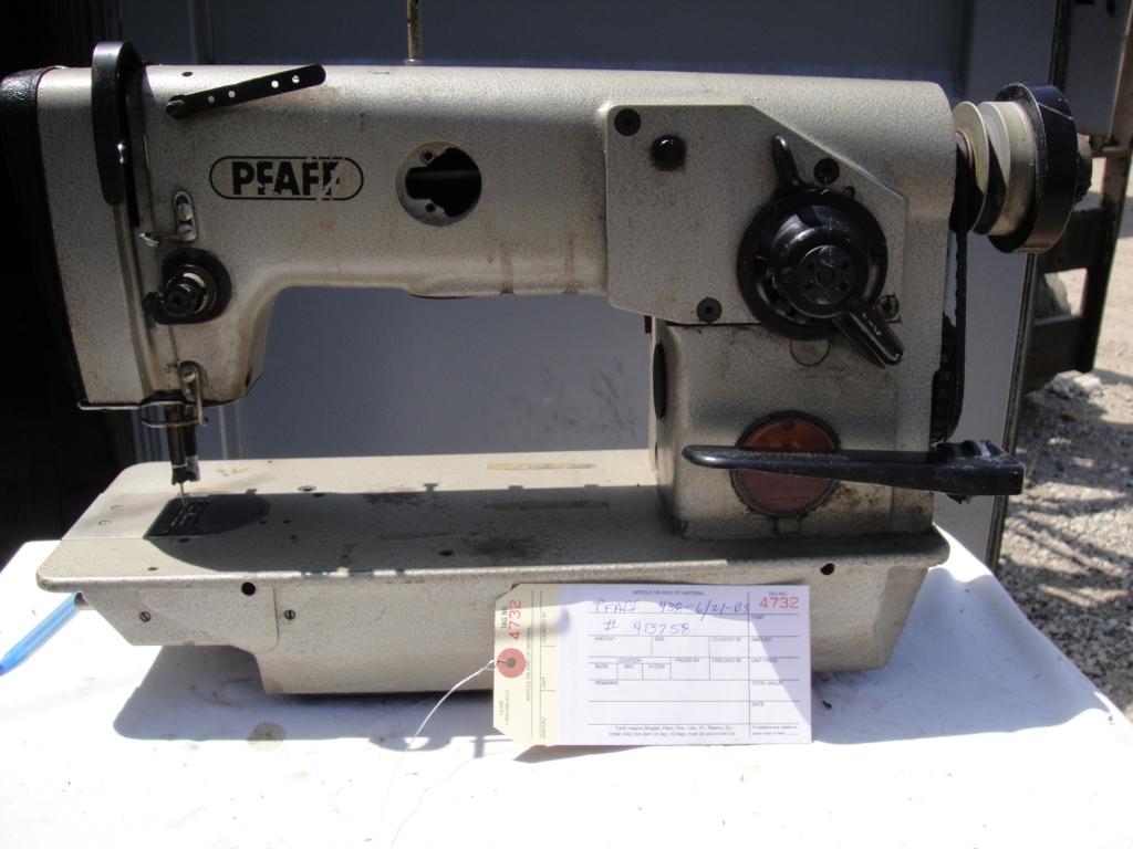Pfaff 438 6 21 bs zig zag industrial sewing machines for Macchine pfaff