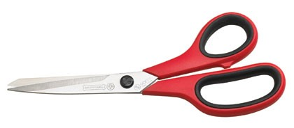 "Mundial  1860-3 Dressmaker Shears 8½"" Micro serrated edge Red/  Black Handle"