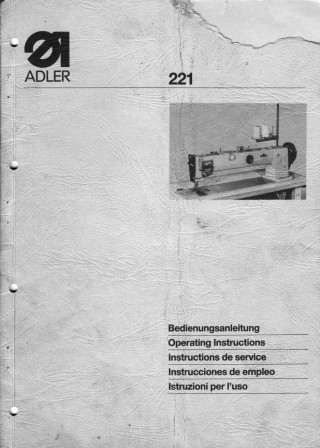 ADLER 21  User's Manual / Instructions Book in PDF format