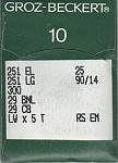 Groz Beckert 251LG (Box of 100 Needles)