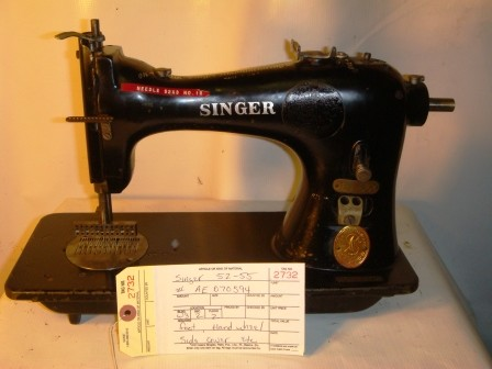 SINGER 52-55, MULTI NEEDLE SEWING MACHINE, MISSING HAND WHEEL