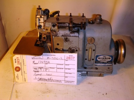 MERROW M-3DW-2  Rolled Edge, overlock, pearl stitch sewing machine