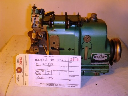 MERROW MG-2DH-1 overedge sewing machine (Missing Parts)
