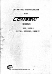 CONSEW 332  User's Manual / Instructions Book in PDF format