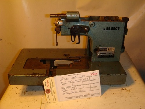 JUKI MBH-180 BUTTON HOLE SEWING MACHINE, MISSING PARTS