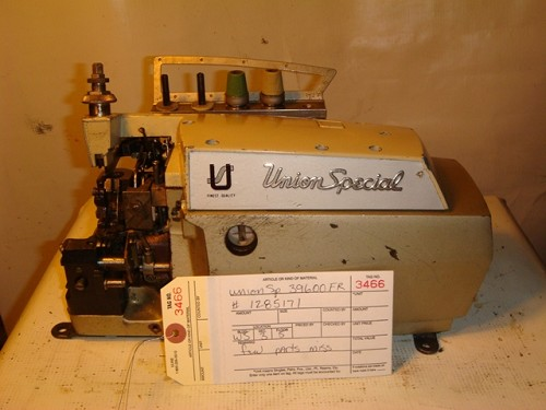 UNION SPECIAL 39600FR, SERGER OVERLOCK MISSING PARTS