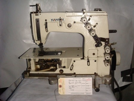 KANSAI SPECIAL DLR-1503, 3 NEEDLE FOR BANNERS CHAINSTITCH MACHINE WITH PULLER