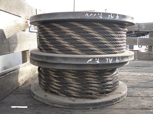 "Ley West Steel 5/8"" 6X19 Wire Rope"