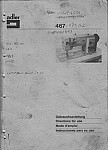 ADLER 467 (ENGLISH, GERMAN, FRENCH, SPANISH)  User's Manual / Instructions Book in PDF format
