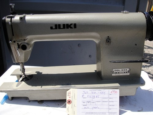 Juki DDL-555, Missing Parts, Single Needle Sewing Machine