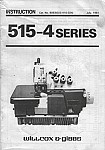 WILCOX & GIBSS 515-4  User's Manual / Instructions Book in PDF format