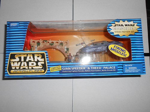 STAR WARS EPISODE 1 SNEAK PREVIEW BOXED SET- GIAN SPEEDER & THEED PALACE