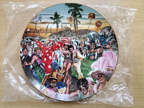 "Windows on the World ""Carnival Time in Rio"" Plate"