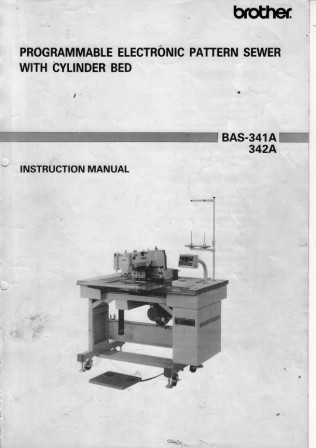 BROTHER BAS-341A  User's Manual / Instructions Book in PDF format