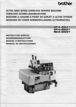 BROTHER EF4-B641  User's Manual / Instructions Book in PDF format