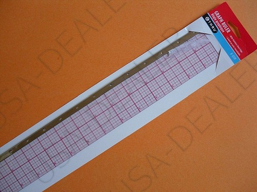 "C-THRU B-85M, 18"" GRAPH BEVELED RULER(8THS) METAL EDGE"