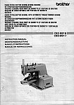 BROTHER CB3-B916  User's Manual / Instructions Book in PDF format