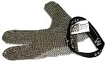 WHITING + DAVIS 3 FINGERS STAINLESS STEEL MESH SAFETY GLOVES