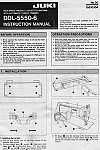 JUKI DDL-5550-6  User's Manual / Instructions Book in PDF format