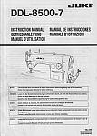 JUKI DDL-8500-7 User's Manual / Instructions Book in PDF