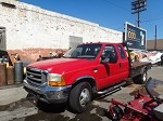 2000 FORD F350 FLATBED WITH 5TH WHEEL