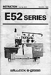 WILCOX & GIBBS E52  User's Manual / Instructions Book in PDF format