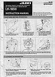 JUKI LK-1850  User's Manual / Instructions Book in PDF format