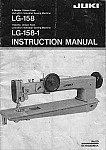 JUKI LG-158, LG-158-1  User's Manual / Instructions Book in PDF format