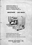 BROTHER LK3-B434  User's Manual / Instructions Book in PDF format