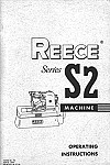REECE S2  User's Manual / Instructions Book in PDF format
