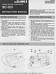 JUKI SC-120  User's Manual / Instructions Book in PDF format