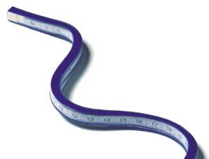 "C-THRU TC-386, CALIBRATED FLEXIBLE CURVE 20""/50CM PLASTIC"