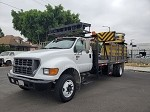 2001 Ford F650 Stake Bed Attenuator Truck